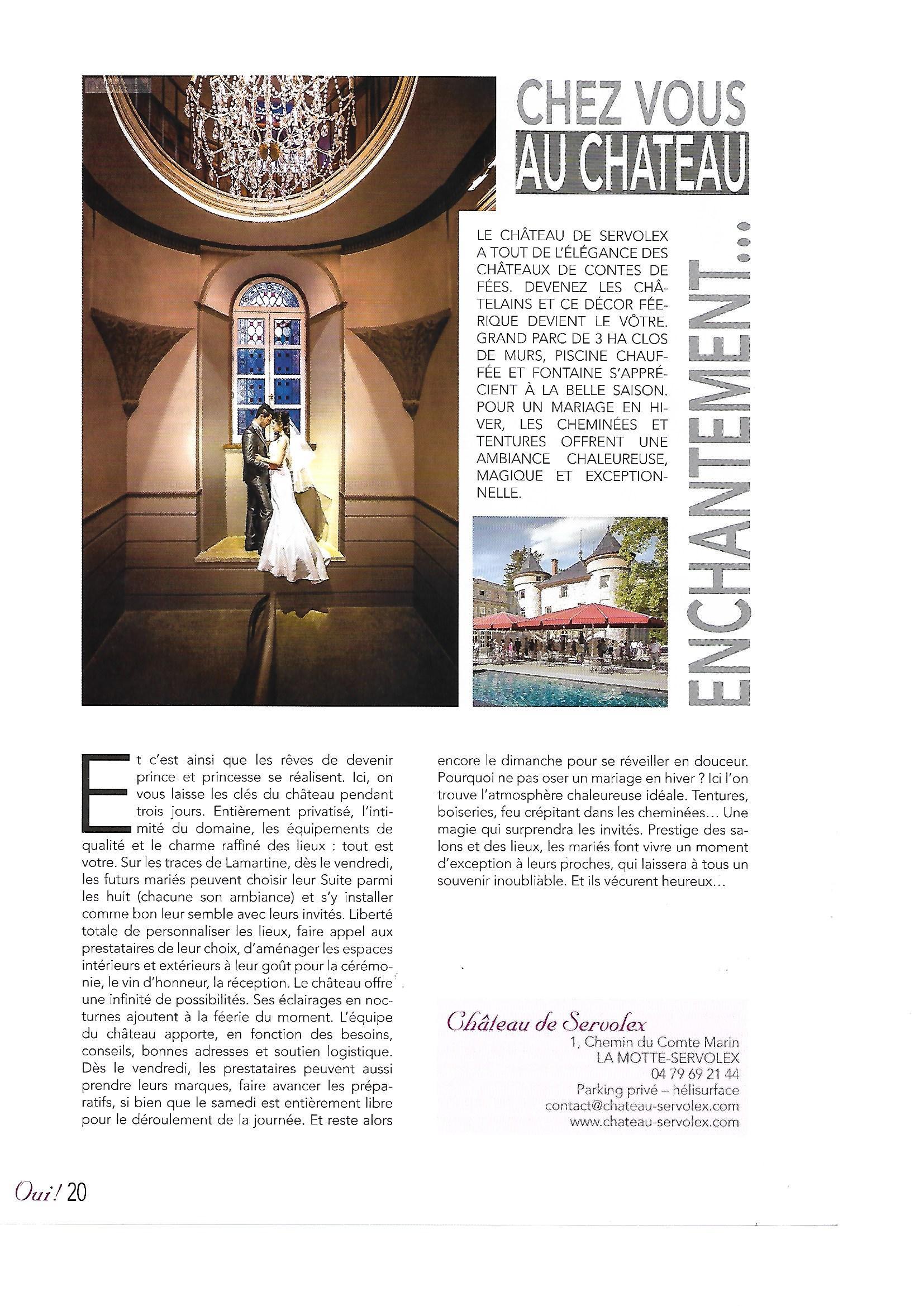 Magazine Oui-Château de Servolex