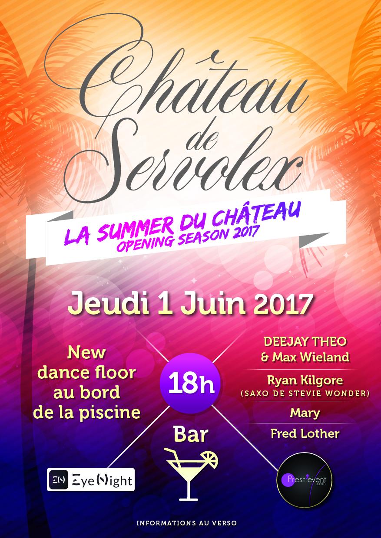 La Summer du Château -Jeudi 1er Juin 2017//opening season 2017