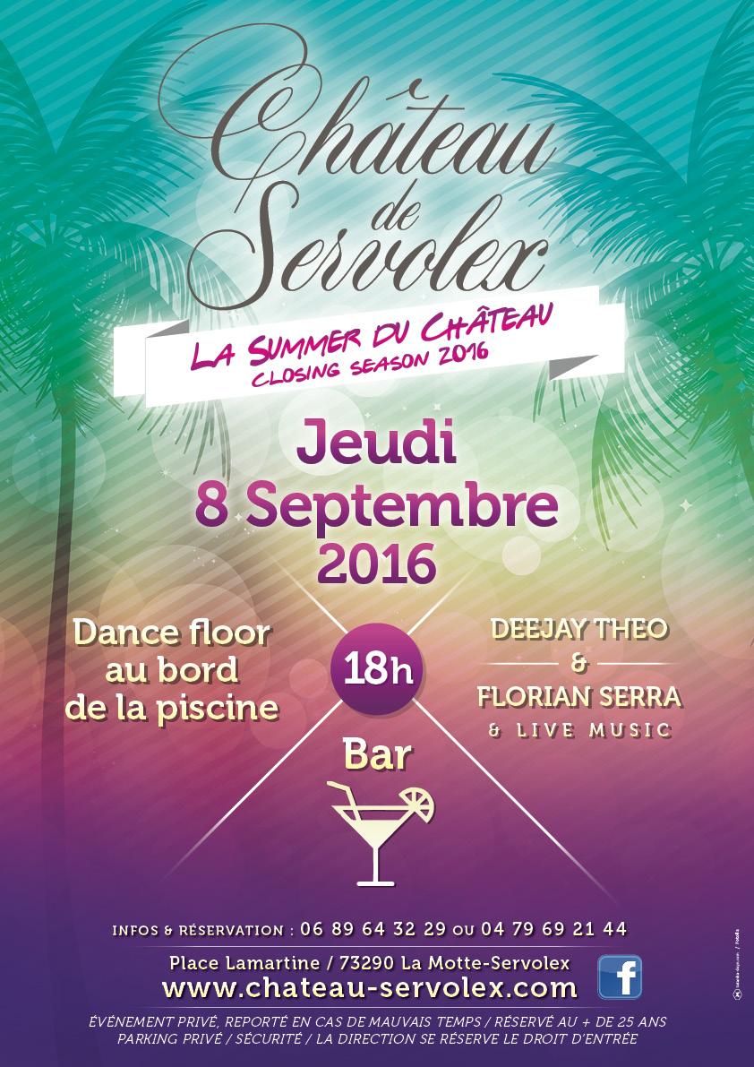 La Summer du Château -Jeudi 8 septembre 2016 // closing season 2016